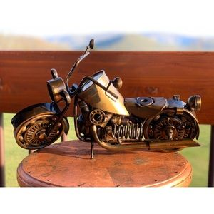 Motorcycle Sculpture- made from automotive parts